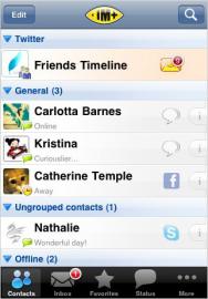 Socdir screenshot of IM+