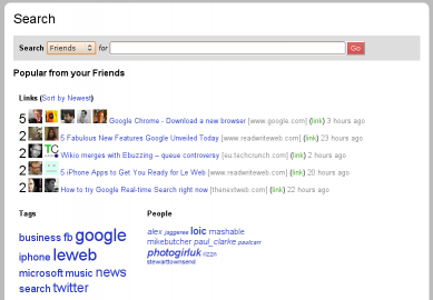 Socdir screenshot of FriendBinder