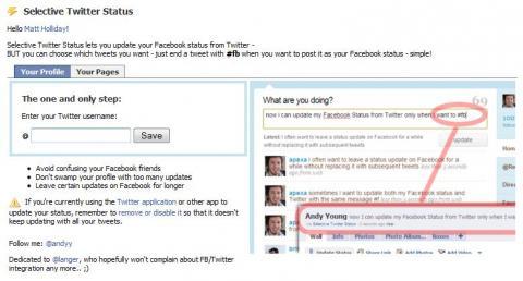 Socdir screenshot of Selective Tweets