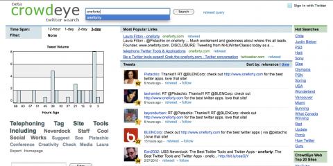 Socdir screenshot of CrowdEye