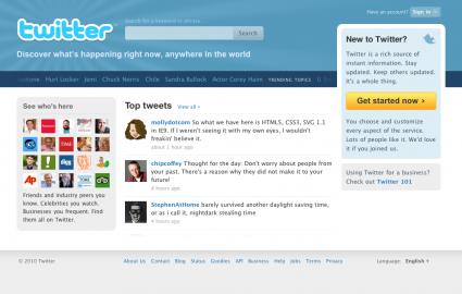 Socdir screenshot of Twitter