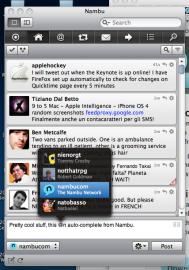 Socdir screenshot of Nambu for Mac