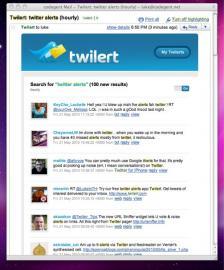 Socdir screenshot of Twilert