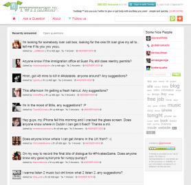 Socdir screenshot of Twithelp