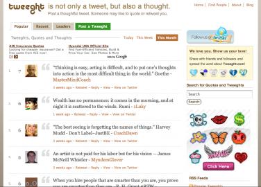 Socdir screenshot of Tweeght