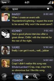 Socdir screenshot of Spaz webOS
