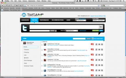 Socdir screenshot of TwitJump
