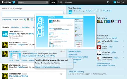 Socdir screenshot of TwitPlus