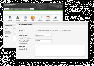 Socdir screenshot of TweetingMachine