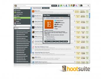 Socdir screenshot of HootSuite