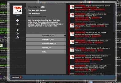 Socdir screenshot of Twimbow