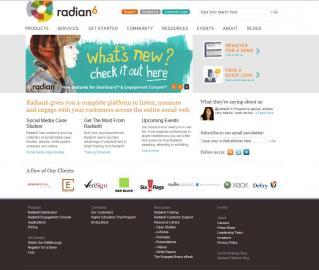 Socdir screenshot of Radian6