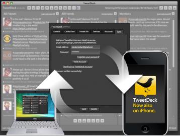 Socdir screenshot of TweetDeck