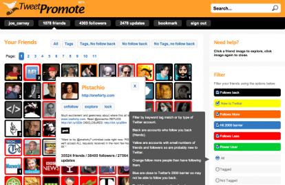 Socdir screenshot of TweetPromote