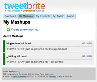 Socdir screenshot of TweetBrite