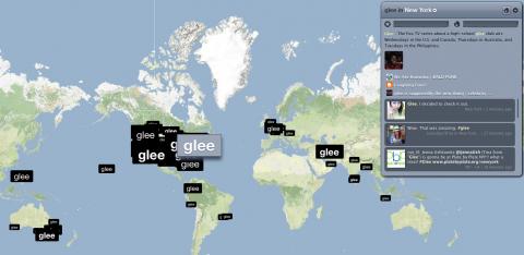 Socdir screenshot of Trendsmap
