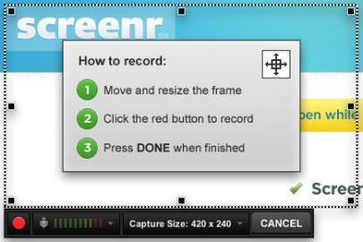 Socdir screenshot of Screenr