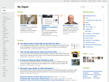 Socdir screenshot of feedly