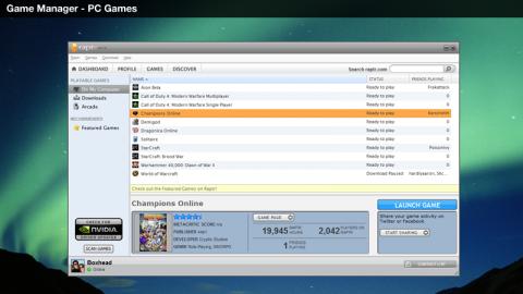Socdir screenshot of Raptr